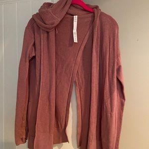 Lululemon Pink Hooded Cardigan